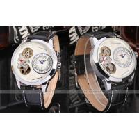 Forsining Leather Strap 255mm Ladies Quartz Watch With Black Glass Manufactures