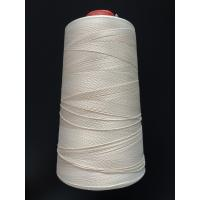 Quality White Color Fiberglass Insulation Flame Retardant Thread For Sewing 0.2mm Thickness for sale