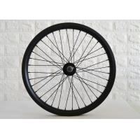 32mm Width Carbon BMX Wheels Double Wall Construction 100*10mm Front Hub Manufactures