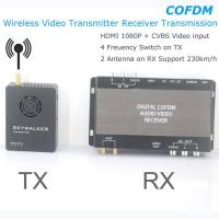 Quality COFDM Wireless Video Transmitter Receiver Transmission HDMI HD 1080P composite CVBS in H.264 COFDM-904T for sale