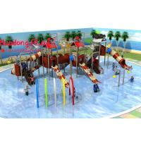 Giant Water Park Equipment , Beautiful Commercial Outdoor Play Equipment Top Rated Manufactures