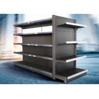 China Brown and white color supermarket display equipment adjustable and fashionable gondola with OEM design on sale