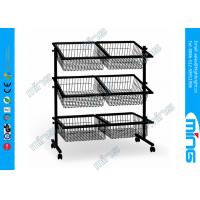 China Metal Powder Coated Wire Rack Display Stands with 6 Basket for Foods Storage on sale