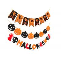 China Tearproof Multicolor Custom Felt Flags , Durable Halloween Flag Banner on sale