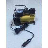 Quality Silver And Yellow Car Tyre Pressure Pump , Heavy Duty Power 12 Volt Air Compressor for sale