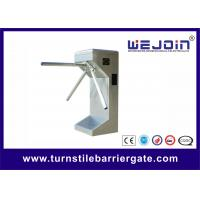 Subway Station Electric Double Turnstile Mechanism , Vertical Type
