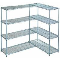 China Kitchen 42X 30 4 Tier Wire Rack Unit / Adjustable Metal Wire Shelving on sale
