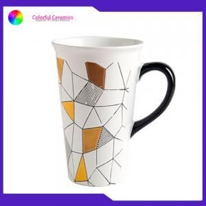 China Tall Handmade Stoneware Mugs , Personalized Coffee Travel Mugs Large Capacity on sale