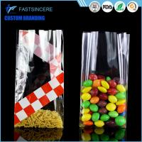 China Side Gusset Clear Square Bottom Cellophane Bags Opp Food Grade Plastic Bag on sale