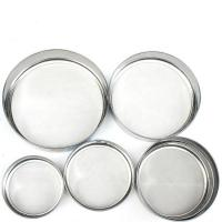 Buy cheap 10 - 600 Micron Wire Mesh Sieve Round Shape Stainless Steel Made from wholesalers