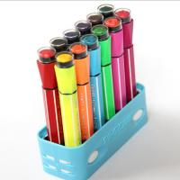 China Waterproof Multi Color Highlighter Pen With Stamp on sale