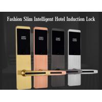 Ultra Thin RFID Hotel Door Locks , Zinc Alloy Material IC Card Induction Lock Manufactures