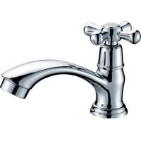 Brass Chrome Plated Single Cold Water Faucet Basin Tap with One Handle , HN-5A30 Manufactures
