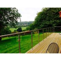 Outdoor balcony stainless steel glass railing / glass balustrade design Manufactures