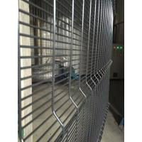 Green Plastic Coating Wire Mesh Garden Fencing 358 Security For Airport Protect Manufactures