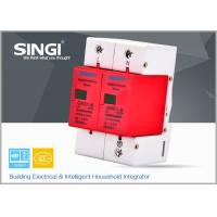Solar / DC lightning protection Surge Protector Device with 2 pole red frame Manufactures