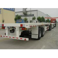80 Feet Flatbed Semi Trailer Train With 1 Flatbed Trailer And 1 Drawbar Trailer Manufactures