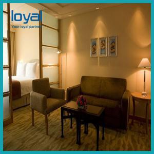 China Elegant 5 Star Luxury Hotel Bedroom Furniture Sets With Metal Frame on sale