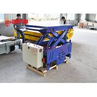 Flexible Motorised Trolleys Carts , Steerable Trackless Battery Transfer Cart On Cement Floor Manufactures