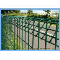 China Powder Coated Welded Iron Wire BRC Garden Fence With V Shape Clamp on sale