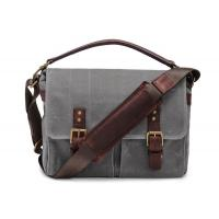 Outdoor Canvas Crossbody Messenger Bag Grey , Casual Messenger Bags With Pockets Manufactures