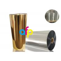 Gold Metalized Plastic Film , Moisture Proof Opaque Metallized Polyester Film Manufactures