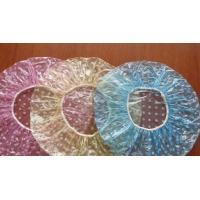 PE Clear Disposable Shower Caps, Disposable Plastic Hair Caps For Hotel / Cooking Manufactures