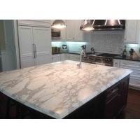 Volakas White And Gray Marble Countertops Polished Eased Edge Manufactures