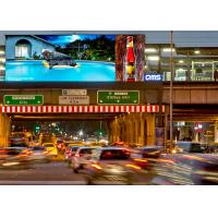 IP65 grade P10 SMD3535 full color outdoor commercial advertising led display / DOOH media led screen Manufactures