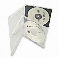 China Standard CD Jewel Case for One CD with Black/Clear Tray and Space-saving Design on sale