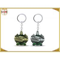 Die Casting 3D Brass Vintage Metal Key Ring Pear Finishing For Promotion With Laser Logo Manufactures