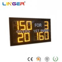 Small Model Digital Cricket Scoreboard In Yellow Color With IR Hand Held Remote Control Manufactures