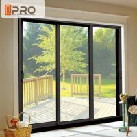 China Air Proof Aluminium Sliding Patio Doors , Horizontal Sliding Glass Doors on sale