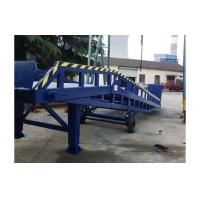 8 ton Hydraulic movable loading forklift container ramp with supporting legs with handle pump Manufactures
