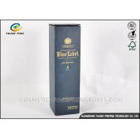 Customized Dark Paper Wine Box Logo Printed Rectangle Shaped With Long Lifetime Manufactures
