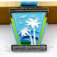 Buy cheap Metal Challenge Awards Medal with ribbon, custom enamel color filled challenge from wholesalers