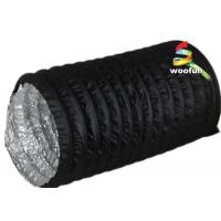 Quality PVC Aluminum Portable Fire Rated Flexible Ducting With 3000 Pa Operating for sale