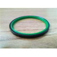 Double Lip Polyurethane Piston Seals , Green Color Hydraulic Rod Seals Manufactures