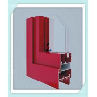 Anodized Flat Open Window Aluminum Profile For Glass Wall Red Color ISO Certification Manufactures
