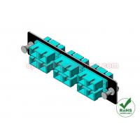 China Fiber Adapter Panel SC OM3 12 Port , Optical Fiber Plate For LGX Patch Panel on sale