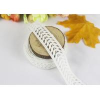 Width 1.9cm Eyelash Polyester Lace Trim For Tassels Skirt Edge / DIY Dress Accessories Manufactures