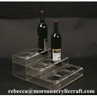 Customized Tabletop Fashionable Clear Acrylic Wine Bottle Display Holder Manufactures