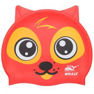 Durable Cartoon Animal Swim Caps , Professional Kids Swim Hat For Summer Sport Manufactures