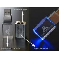 China Transparent Acrylic Customized USB Flash Drive Crystal usb stick 8gb With Engraving Logo on sale