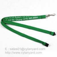 Inexpensive Tube lanyard with Swivel J hook, printed polyester tube lanyards Manufactures