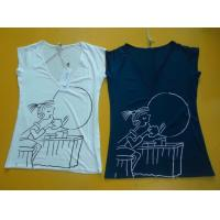 Casual Womens Fashion Tops V Neck Short Sleeve T Shirt Ladiess Modal Tops Manufactures