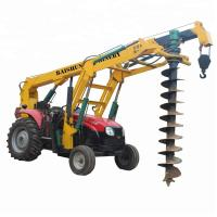 Hydrualic Auger Crane Pile Drive Tractor Mounted Hammer Piling Machine 100HP Manufactures