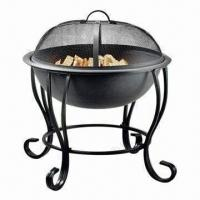 Outdoor Fire Pit/Grill Fire Pit for Sale, Two-sided Food Trays, Made of Plastic Manufactures