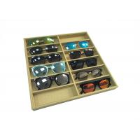 Eco-friendly Linen Sunglasses Display Tray / Eyeglasses Storage Case Manufactures