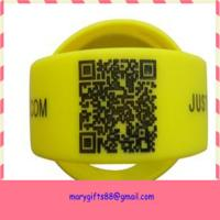 China wide qr code custom silicone bracelet / silicone wristband on sale